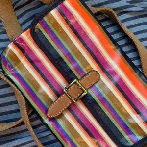 Fossil Multicolor Rainbow Crossbody